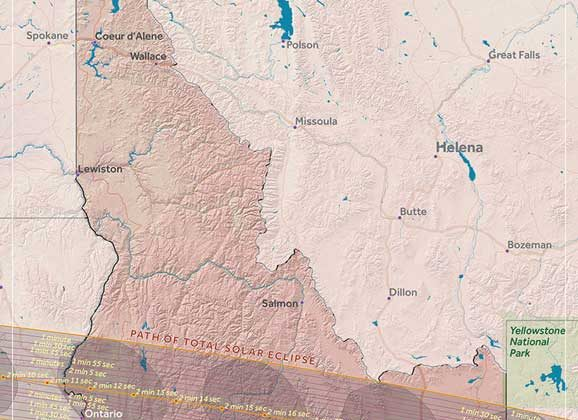 solar eclipse idaho map